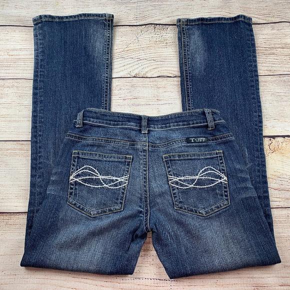59b48e4b2ec Cowgirl Tuff Boot Jeans 28x33 Distressed Denim